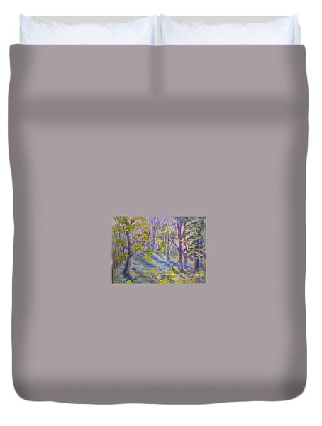 Morning Glory Duvet Cover by Genevieve Brown