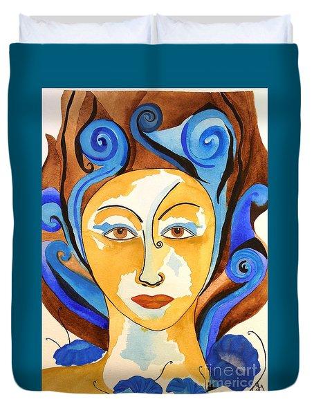 Morning Glory Goddess Duvet Cover