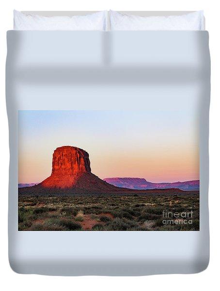 Morning Glory In Monument Valley Duvet Cover