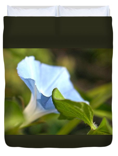 Duvet Cover featuring the photograph Morning Glory by Jennifer Wheatley Wolf