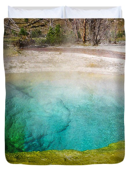 Morning Glory Pool Yellowstone National Park Duvet Cover
