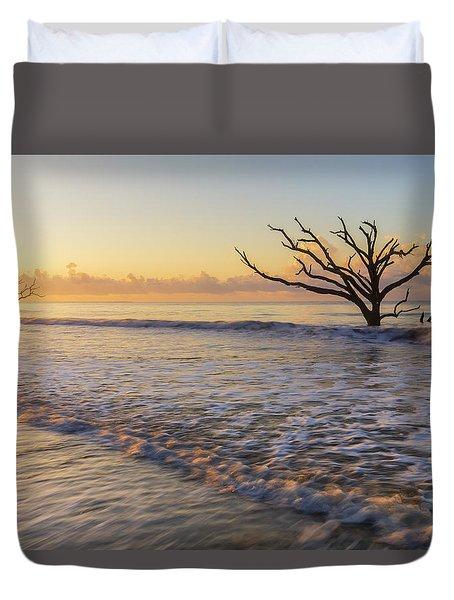 Morning Glow At Botany Bay Beach Duvet Cover
