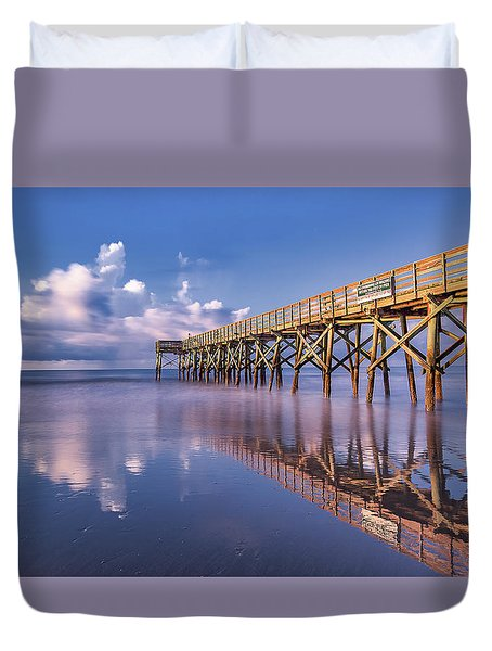 Morning Gold - Isle Of Palms, Sc Duvet Cover