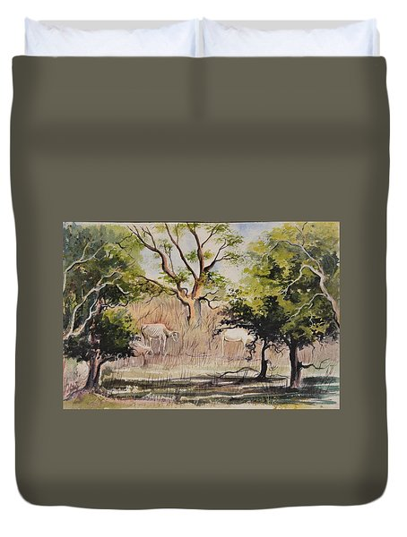 Morning Graze Duvet Cover