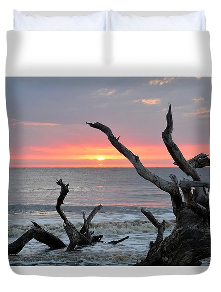 Morning Greeting Duvet Cover by Bruce Gourley