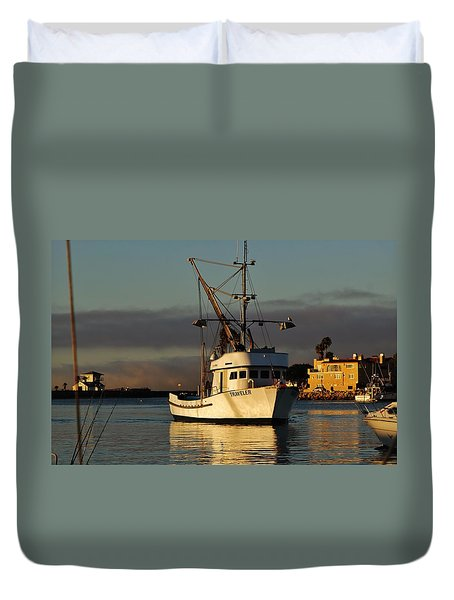 Morning Harbor Light Duvet Cover