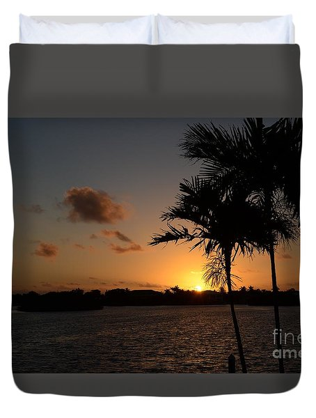 Duvet Cover featuring the photograph Morning Has Broken by Pamela Blizzard