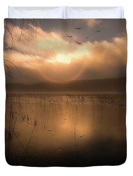 Morning Has Broken Duvet Cover by Rose-Marie Karlsen