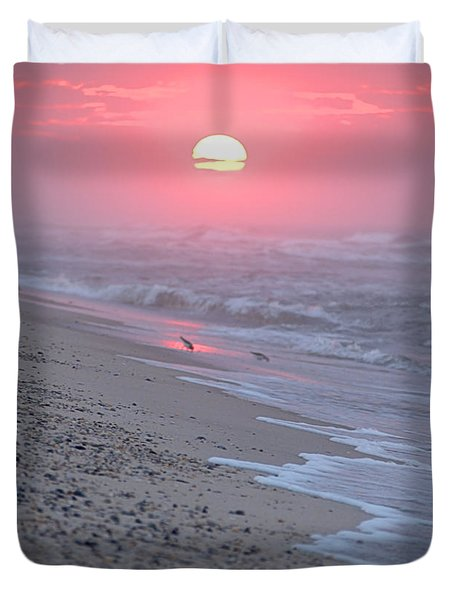 Duvet Cover featuring the photograph Morning Haze by  Newwwman