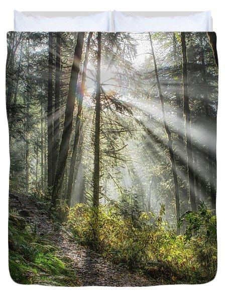 Morning Hike Duvet Cover