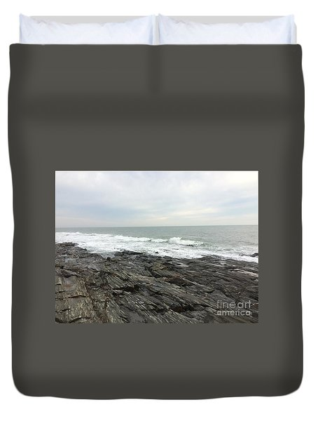 Morning Horizon On The Atlantic Ocean Duvet Cover