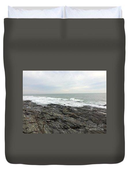 Morning Horizon On The Atlantic Ocean Duvet Cover by Patricia E Sundik