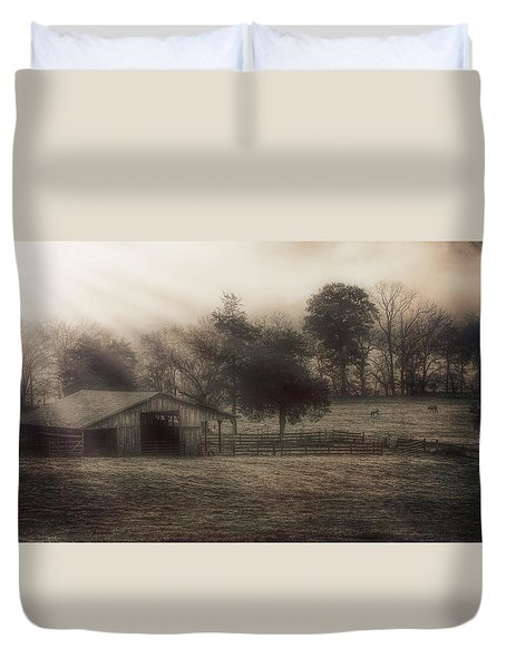 Morning In Boxley Valley Duvet Cover