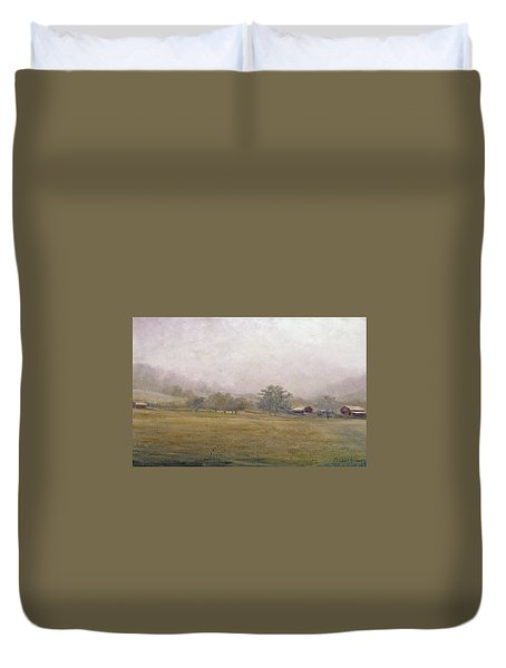 Duvet Cover featuring the painting Morning In Georgia by Andrew King