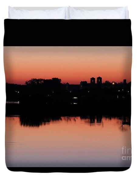 Duvet Cover featuring the photograph Morning In Glow by Deborah Benoit