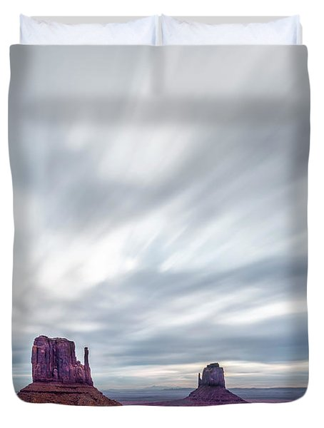 Morning In Monument Valley Duvet Cover