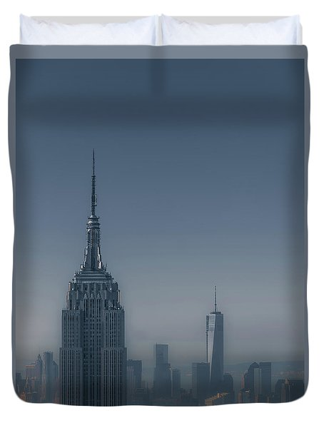 Morning In New York Duvet Cover by Chris Fletcher