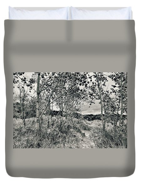 Duvet Cover featuring the photograph Morning In The Dunes by Michelle Calkins