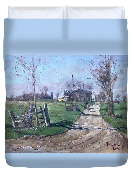 Morning In The Farm Georgetown Duvet Cover