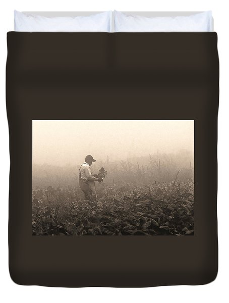 Morning In The Fields Duvet Cover