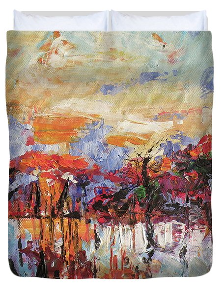 Morning In The Garden Duvet Cover