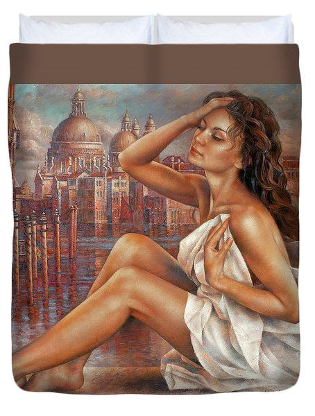 Morning In Venice Duvet Cover by Arthur Braginsky