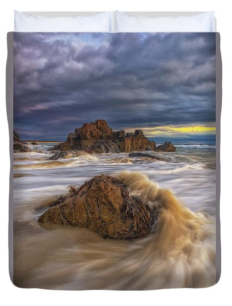 Morning Light At Marginal Way Duvet Cover