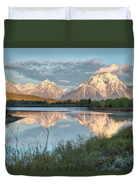Morning Light At Oxbow Bend Duvet Cover