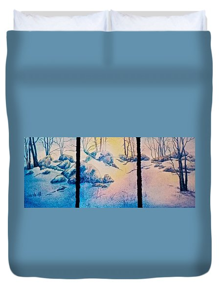 Duvet Cover featuring the painting Morning Light by Carolyn Rosenberger
