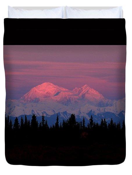 Morning Light On Denali Duvet Cover