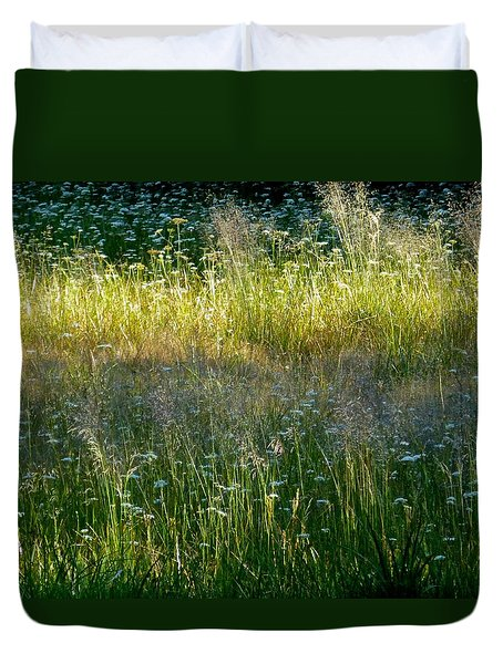 Morning Light On Grant Meadow Duvet Cover