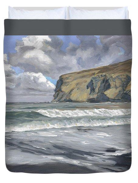 Morning Light On Pencannow Point Duvet Cover