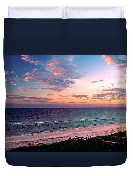 Morning Light On Rosemary Beach Duvet Cover