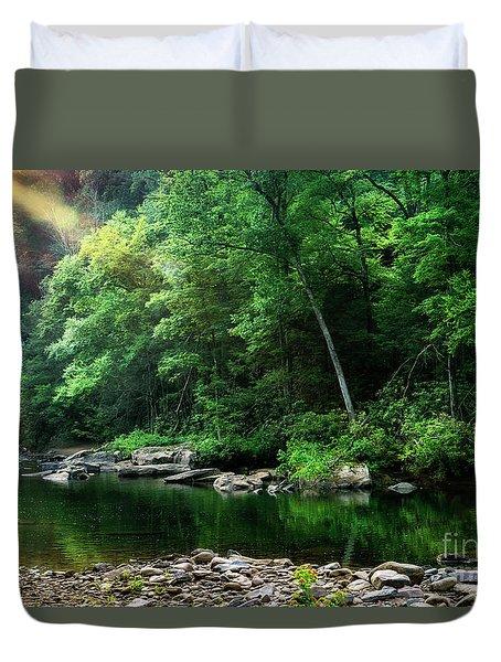 Morning Light On Williams River  Duvet Cover