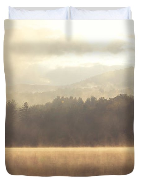 Morning Light Over The Mountains Duvet Cover by Stephanie McDowell