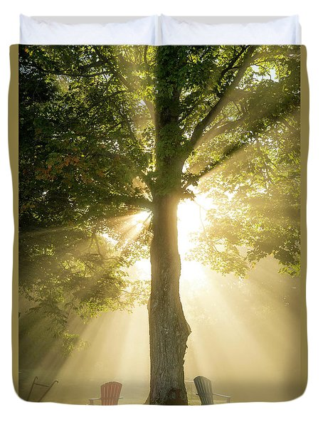 Morning Light Shining Down Duvet Cover by Alana Ranney