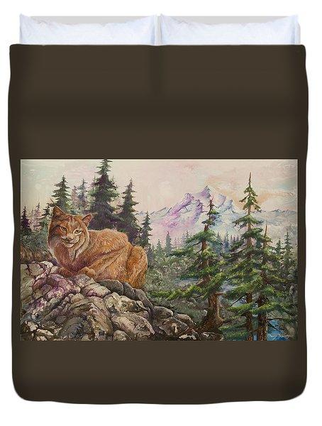 Morning Lynx Duvet Cover