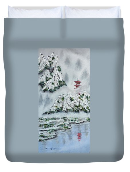 Morning Mist 1 Duvet Cover