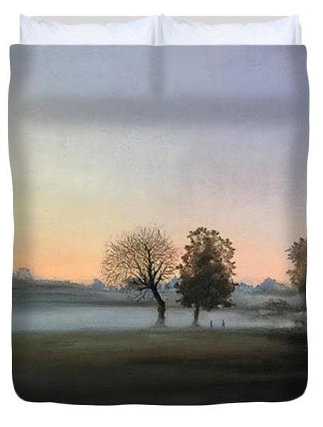 Morning Mist Encounter Duvet Cover