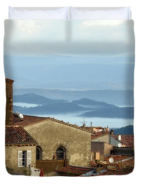 Morning Mist In Provence Duvet Cover