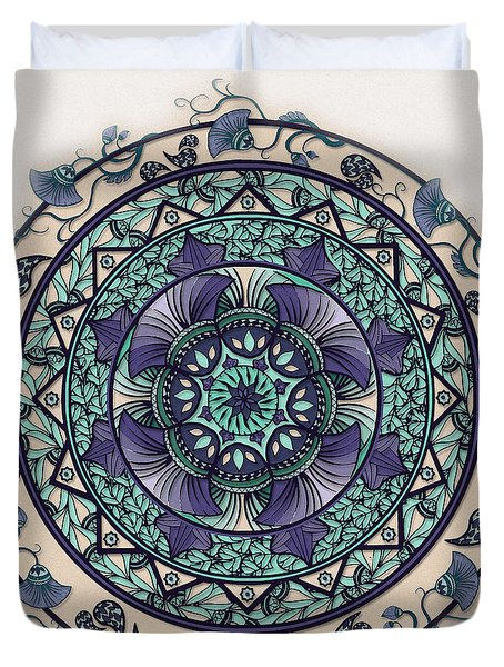 Morning Mist Mandala Duvet Cover