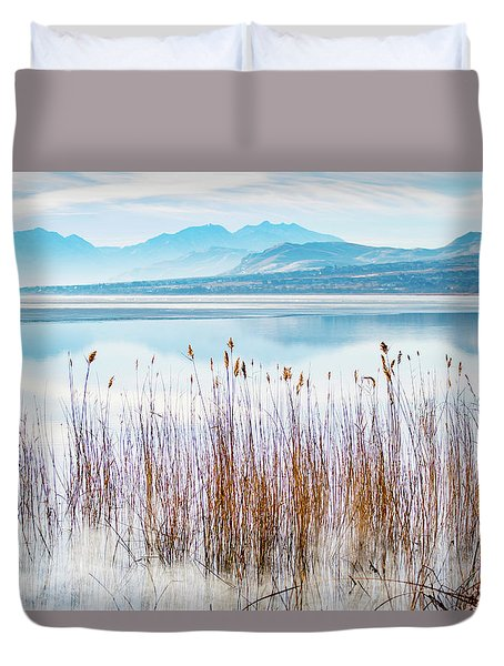 Morning Mist On The Lake Duvet Cover