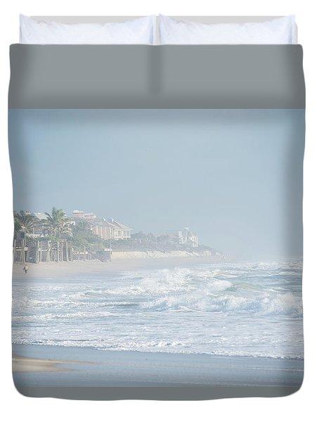 Morning Mist On Vero Beach Duvet Cover