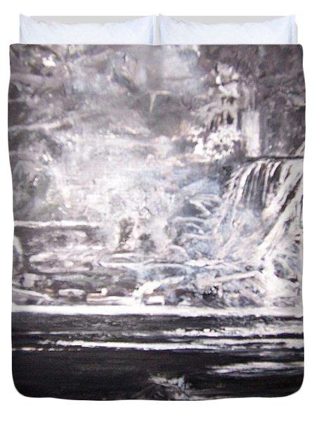 Morning Mist -theresa Falls Duvet Cover