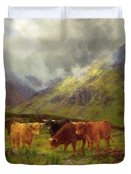 Morning Mists Duvet Cover by Louis Bosworth Hurt