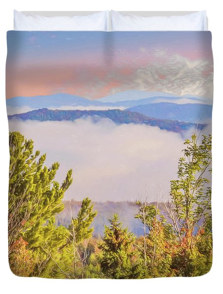 Morning Mountain View Northern New Hampshire. Duvet Cover