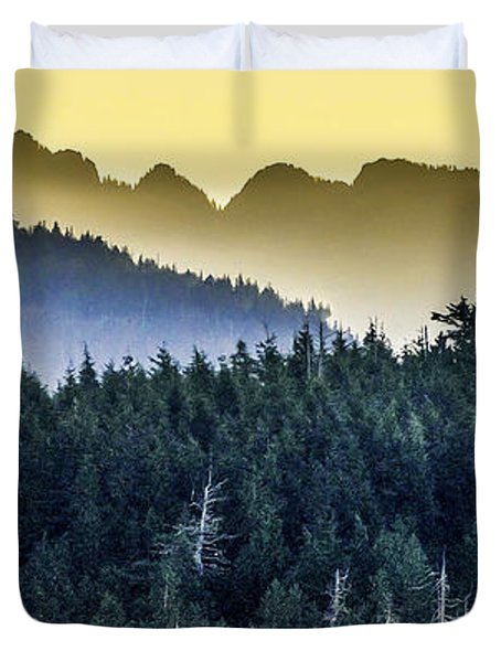 Morning Mountains Duvet Cover