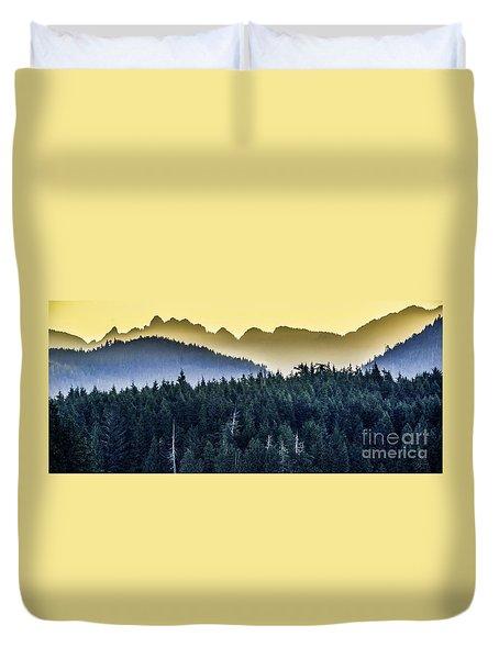 Morning Mountains Duvet Cover