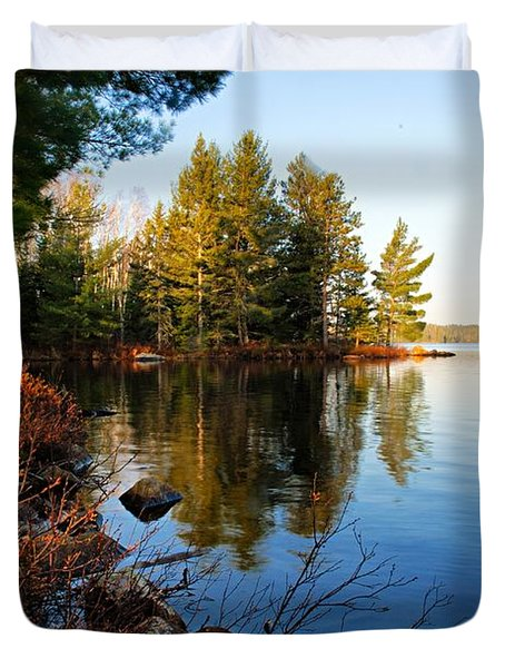 Morning On Chad Lake 4 Duvet Cover