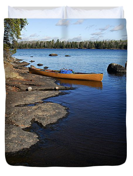 Morning On Hope Lake Duvet Cover
